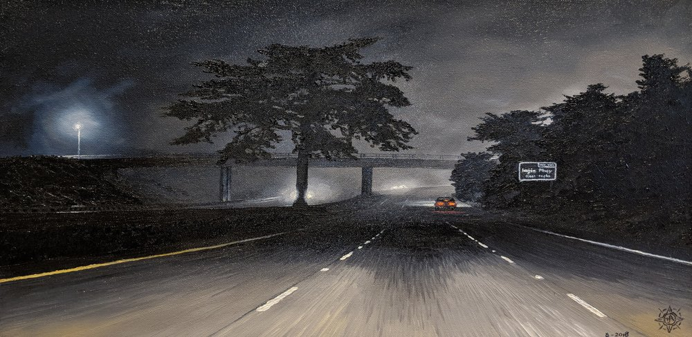 Midnight Drive, Seaside 24 x 12.jpg