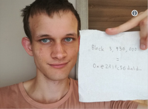 A photo of Vitalik from beyond the afterlife.