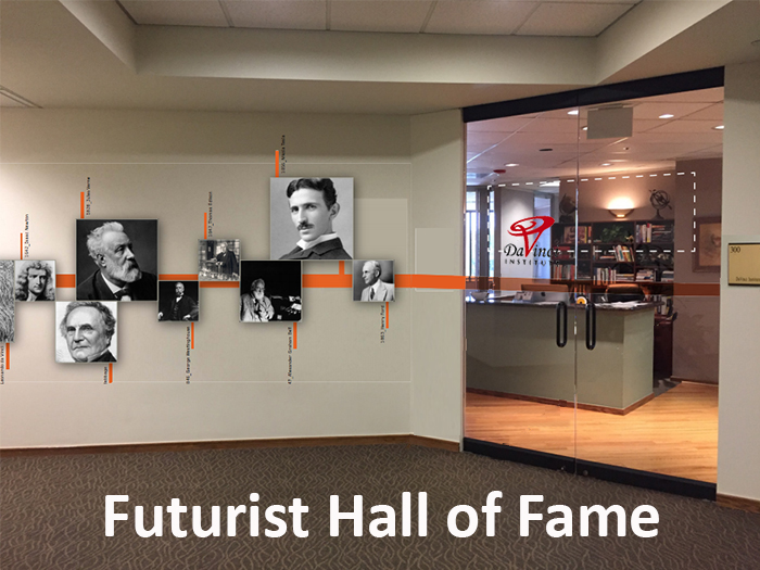 Great irony in a museum for furturists - Concept image of the Futurist Hall of Fame, by Futurist, keynote speaker, Thomas Frey