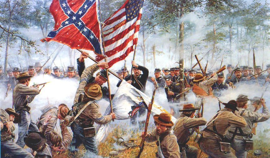 Artistic Portrayal of the Battle of Gettysburg