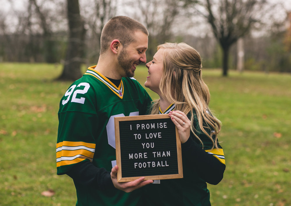 I promise to love you more than football