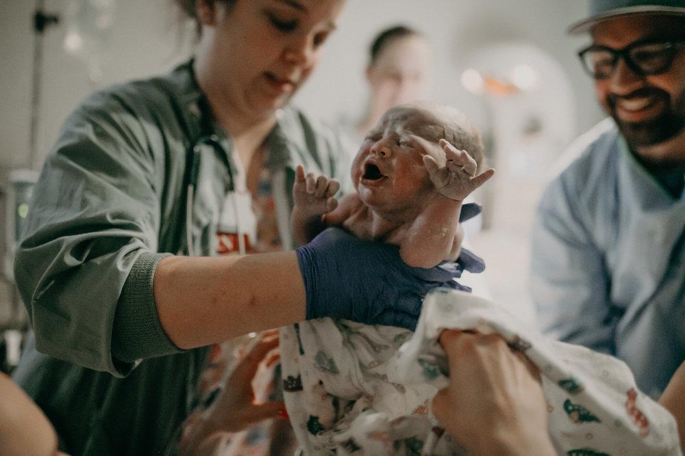 newborn baby girl during labor marshfield wi