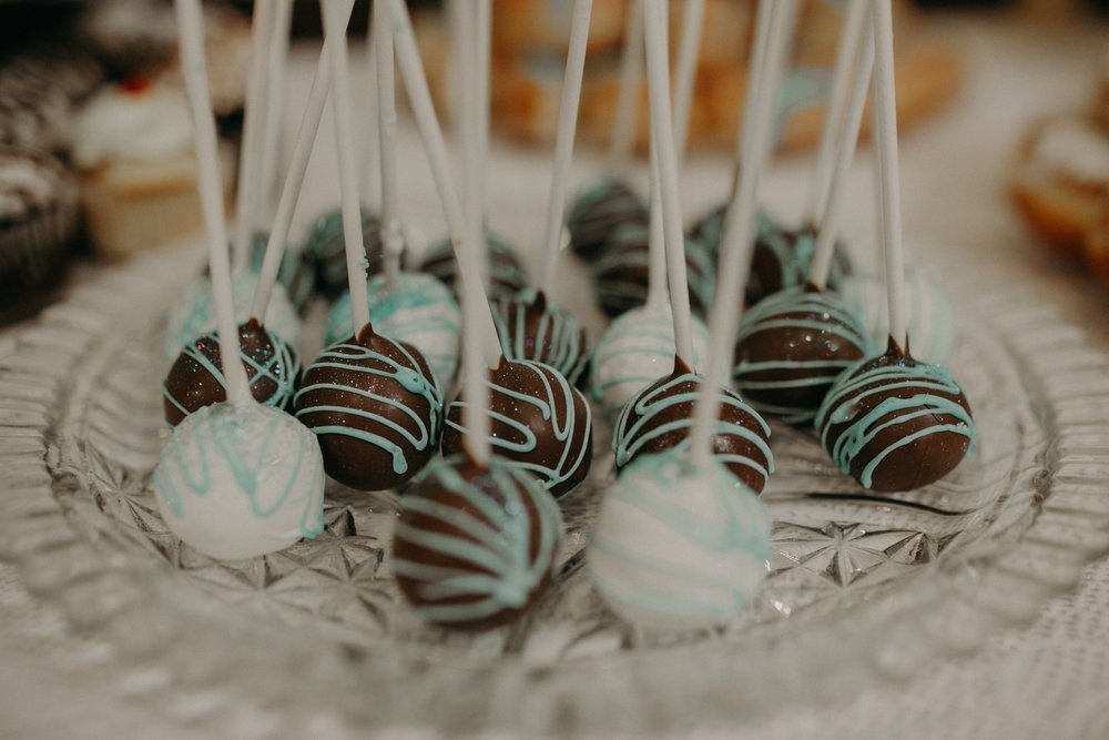 cake pops at Lenz wedding at Eagles Club in Marshfield WI