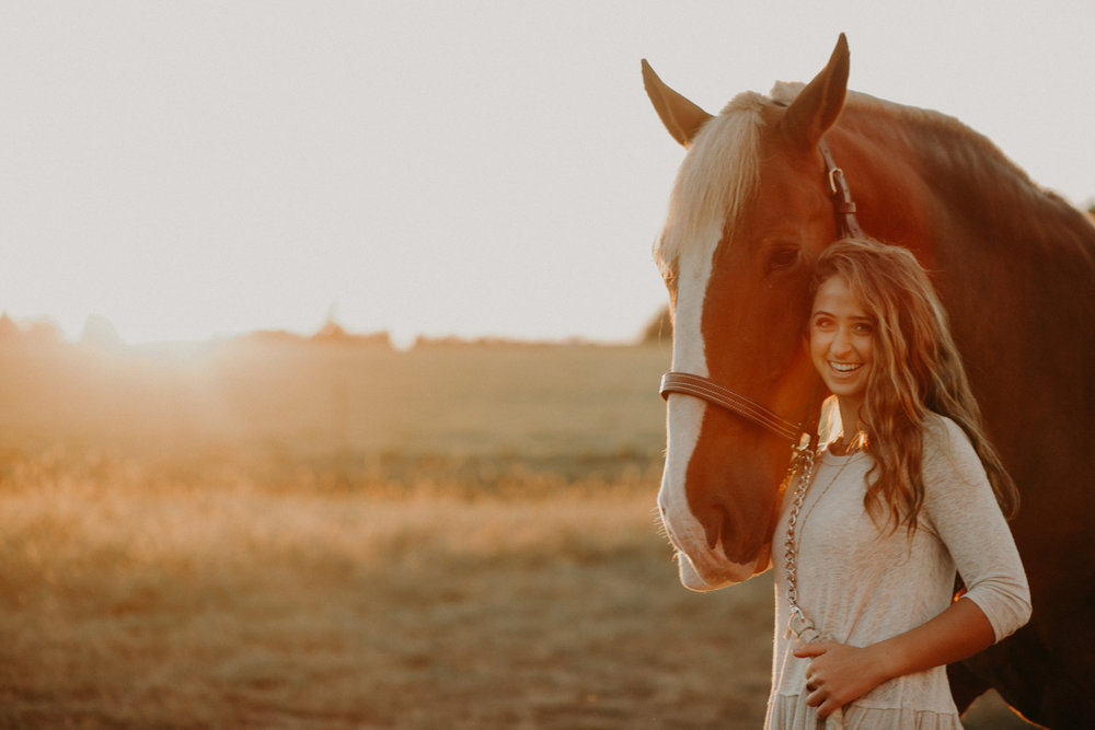 an Equestrian senior session on Stichert Farms in Chili WI by Andrea Wagner Photography
