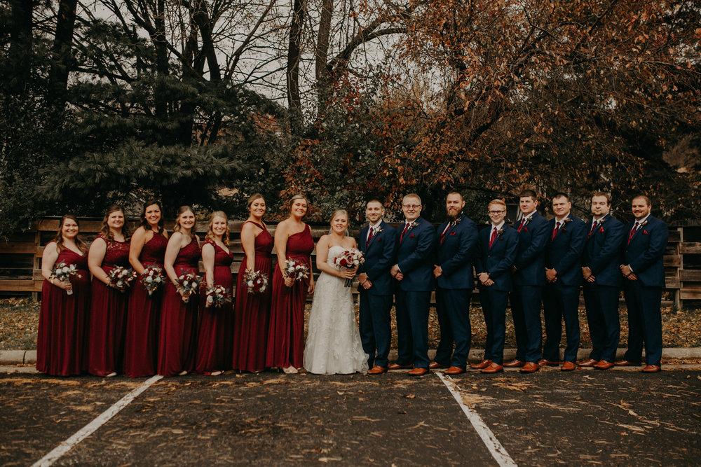 river-falls-bridal-party-fall-wedding-st-bridgets