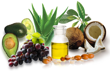 All natural ingredients for skin