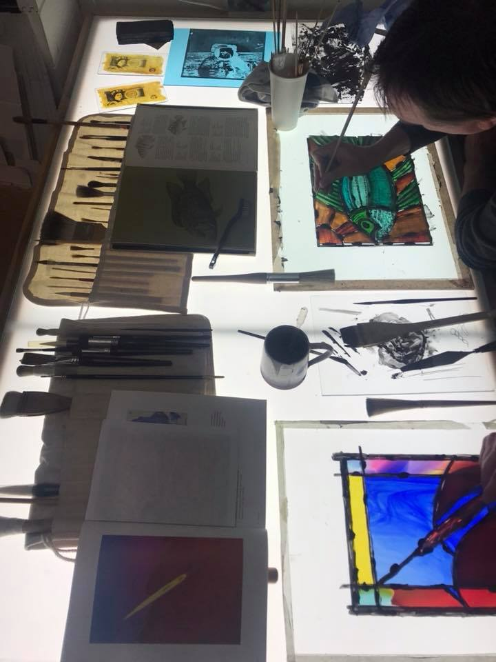 Stained glass evening class -