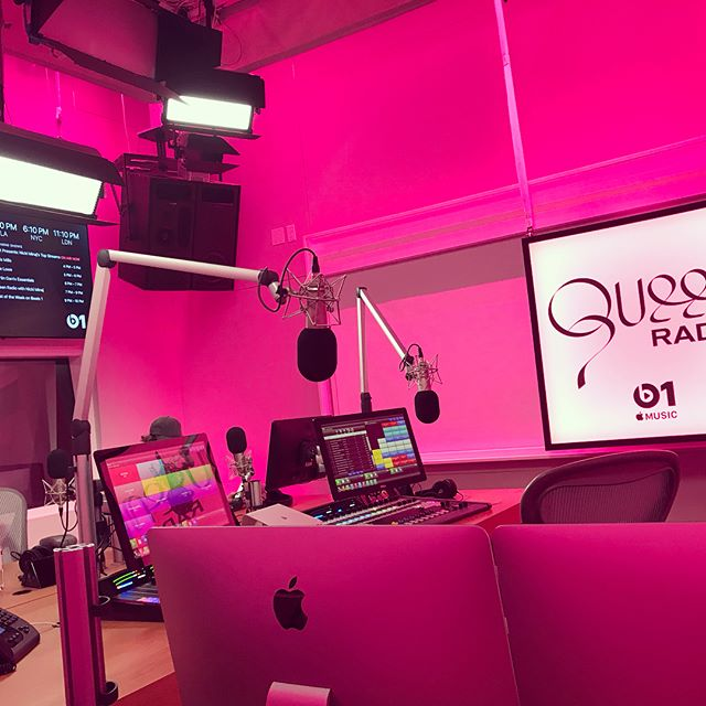 Queen Radio set up, fo this evening's broadcast.