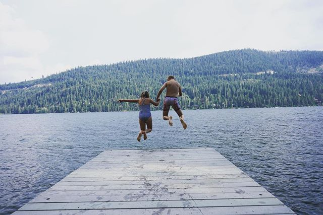 Summer is winding down... I've been on a social media hiatus over the summer while I spent time with my two favorite #groms .  See y'all soon! ⛰ ☀️ 💖 #donnerlake #laketahoe #northlaketahoe #norcal #norcalliving #summertime #summerbreak #motherofwolves #wolfpack #familytime