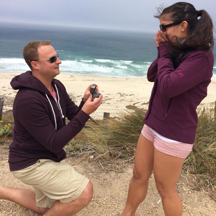The sweetest couple caught his proposal