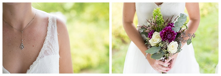 Jewelry By Harry Merrill & Sons / Flowers by Cynthia's Flowers / Dress by Ashe B & Co.