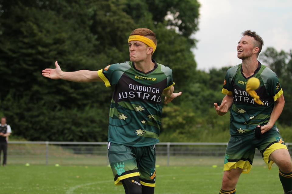 Neil Kemister just after winning the game which sent Australia to the Quidditch World Cup Final!