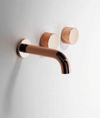 BRODWARE Halo Wall Basin Set Copper