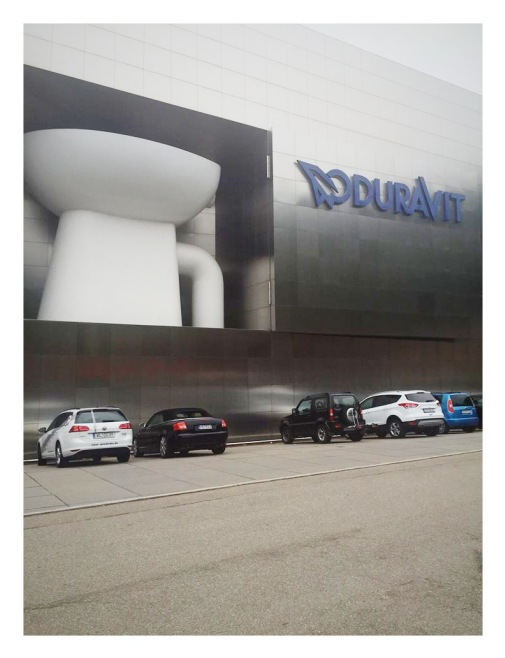 Arriving at the Duravit head office in Hornberg.