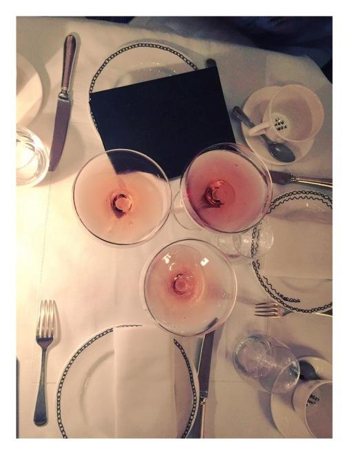 Pink martinis.