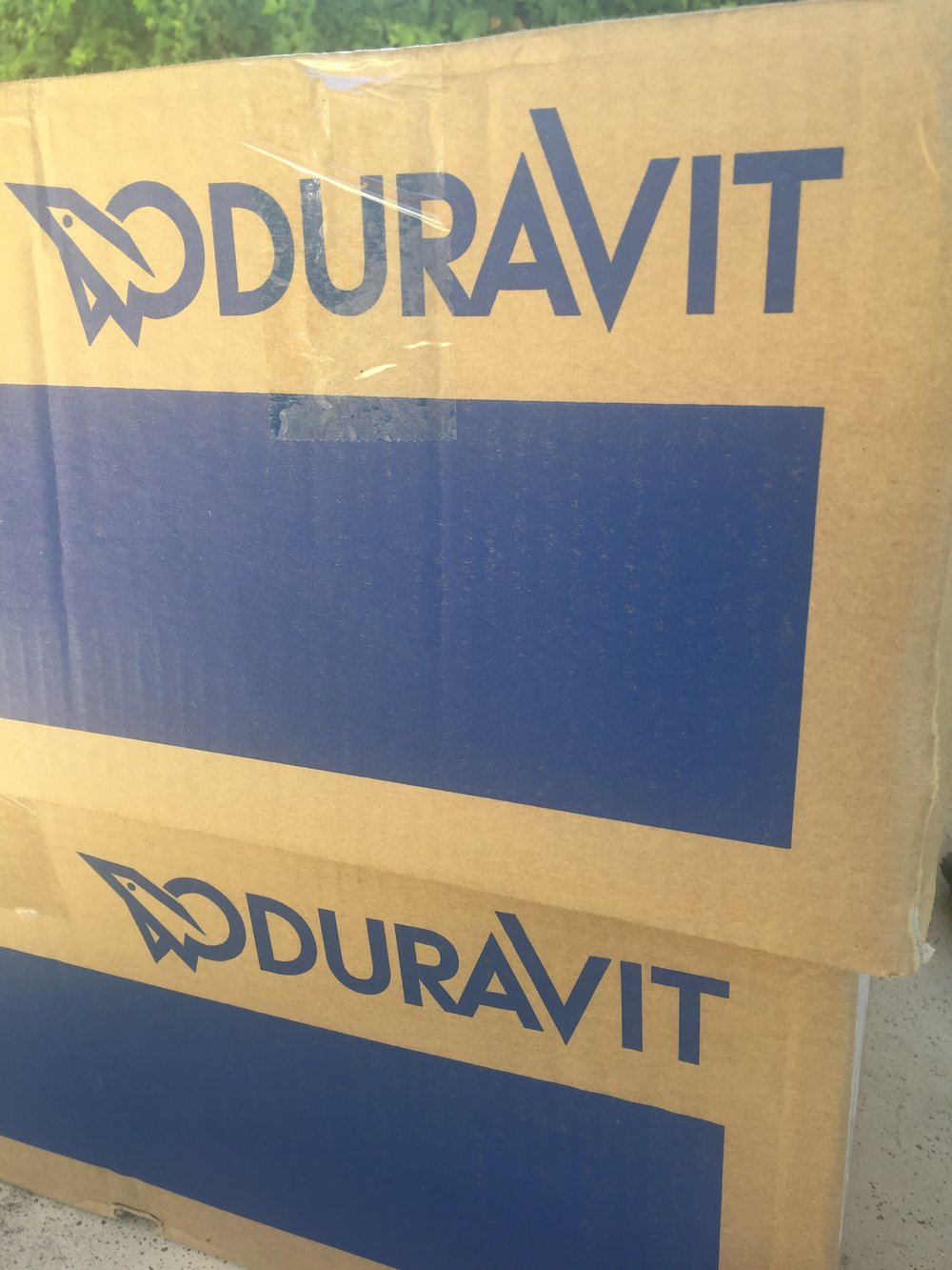 Duravit basins arriving on site!