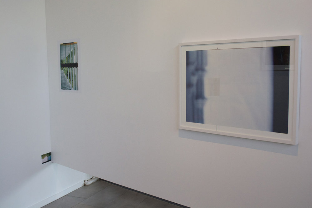 Extending out from the corner - Acts of Re-ordering. 2013. Installation View. Queensland Centre for Photography.