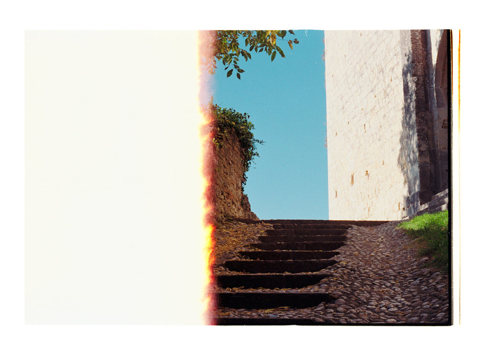 [Stone path] Up Into The Blue, 2016 [2015]. Archival Inkjet Print on Hahnemühle Photo Rag. 22x15.25cm. Edition of 5 + 2 Ap.