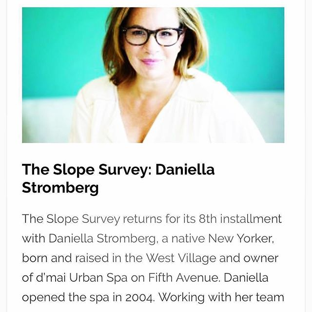 Thank you, Daniella Stromberg, for being a vibrant part of our community! ・・・ Congratulations, Daniella Stromberg,  owner of @dmaibrooklyn! ・・・ We hope you are reading @parkslopereader Not just for my interview but to know what's up in our neighb. #enjoylocal #summerwellness #theother5th #dmaiurbanspa #dmaiskincare #summerskincare #bkspa #boholuxe #spaitgirl #womenownedbusiness