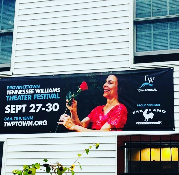Shout out to our @parkslopemoms @ireneglezos!  She's the face of the @twptown! Congratulations!!! #rosetattoo #tennessewilliams #theatre #festival #theaterfestival #provincetown