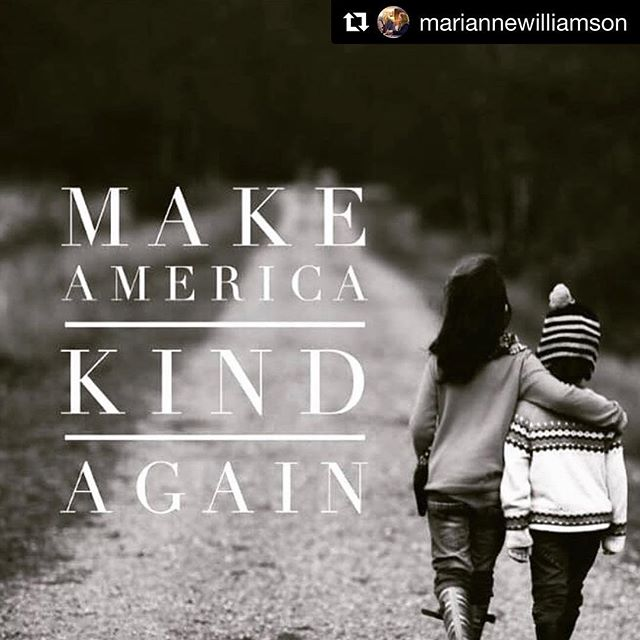 "#Repost @mariannewilliamson #kindness ・・・ People think politics is so ugly, and part of it is. But there is something else there too, when we allow it to unfold - something noble and good. As someone who has been speaking to audiences consistently for 35 years, I can tell you that there is something deeply intelligent about the look on the faces of people sitting together in a room, considering the most significant questions about their common existence. My father was a lawyer and he always said you should speak to the smartest person on the jury. I have had the good fortune in my career of seeing people at their best -- times not necessarily when they're at their happiest, but when they're at their deepest and most real. Whether counseling a single person or a couple or talking to a large audience, I have been with people in that place -- everyone knows it, we've all been there -- where life is serious and hushed and true, even when painful. Gandhi said ""politics should be sacred,"" and I agree with that. We should participate in politics with the same level of consciousness as that which we bring to love, and therapy, and parenting, and all of our most important and meaningful pursuits. We should bring all of ourselves to politics. We should bring our hearts and minds and deepest dedication to something bigger than ourselves. It is very, very serious business in a country as big and powerful as ours; when we get it right it can be a beautiful thing, but when we get it wrong it can be a terrible thing. And we are all responsible for that. With every election, with every campaign, we are deciding something extremely important. We are deciding what is possibly the fate of millions, the fate of the earth, even perhaps the fate of humanity. And if that is not a sacred charge, I cannot imagine what is."