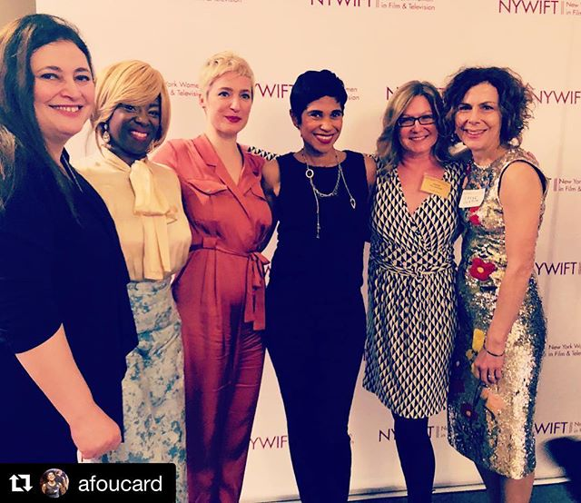 ##Repost @afoucard ・・・ I'm so grateful to have shared @nywift 's Muse Awards with these fabulous women - not only are they wonderful people but their talents blow my mind! ⁣⁣ ⁣⁣ . . .⁣⁣ ⁣⁣ @parkslopemoms in the #house⁣⁣ ⁣⁣ Director: @annettalm  Producer: @justvolga⁣⁣ Head of wardrobe: @msseneeca88 ⁣⁣ Actors Extraordinarie: @ireneglezos @zillahglory and (not pictured) @dinadrewduva  Co-writer: (not pictured)@anikabenkov⁣⁣ And yours truly: Producer, creator, writer ⁣⁣ ⁣⁣ . . .⁣⁣ ⁣⁣ #nywiift #museawards #parkslopemoms #womenintv #powermoves #grateful #lawofattraction