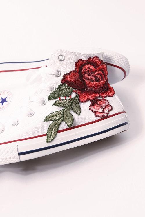 custom white converse rose all star high tops — iamkoko.la 4956d0bb11