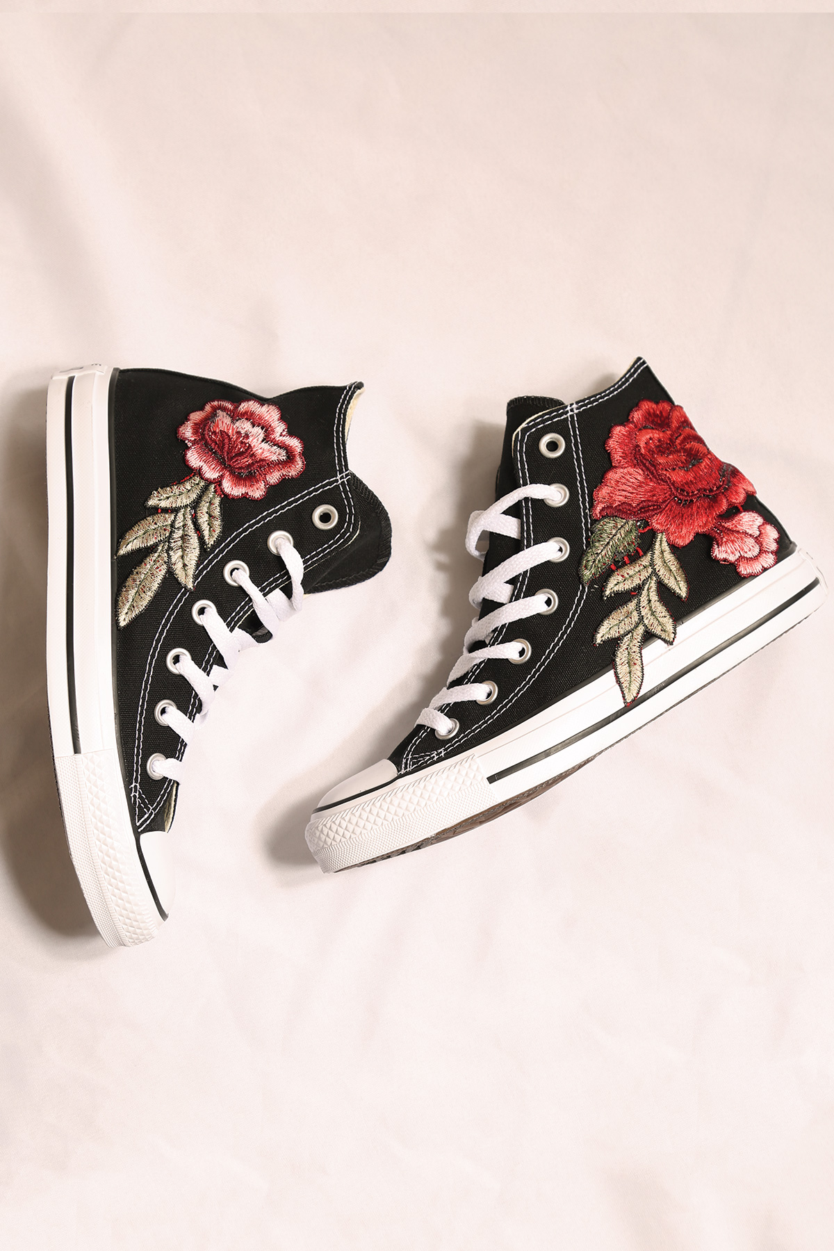 2b83a2e87f23 custom black converse rose all star high tops — iamkoko.la