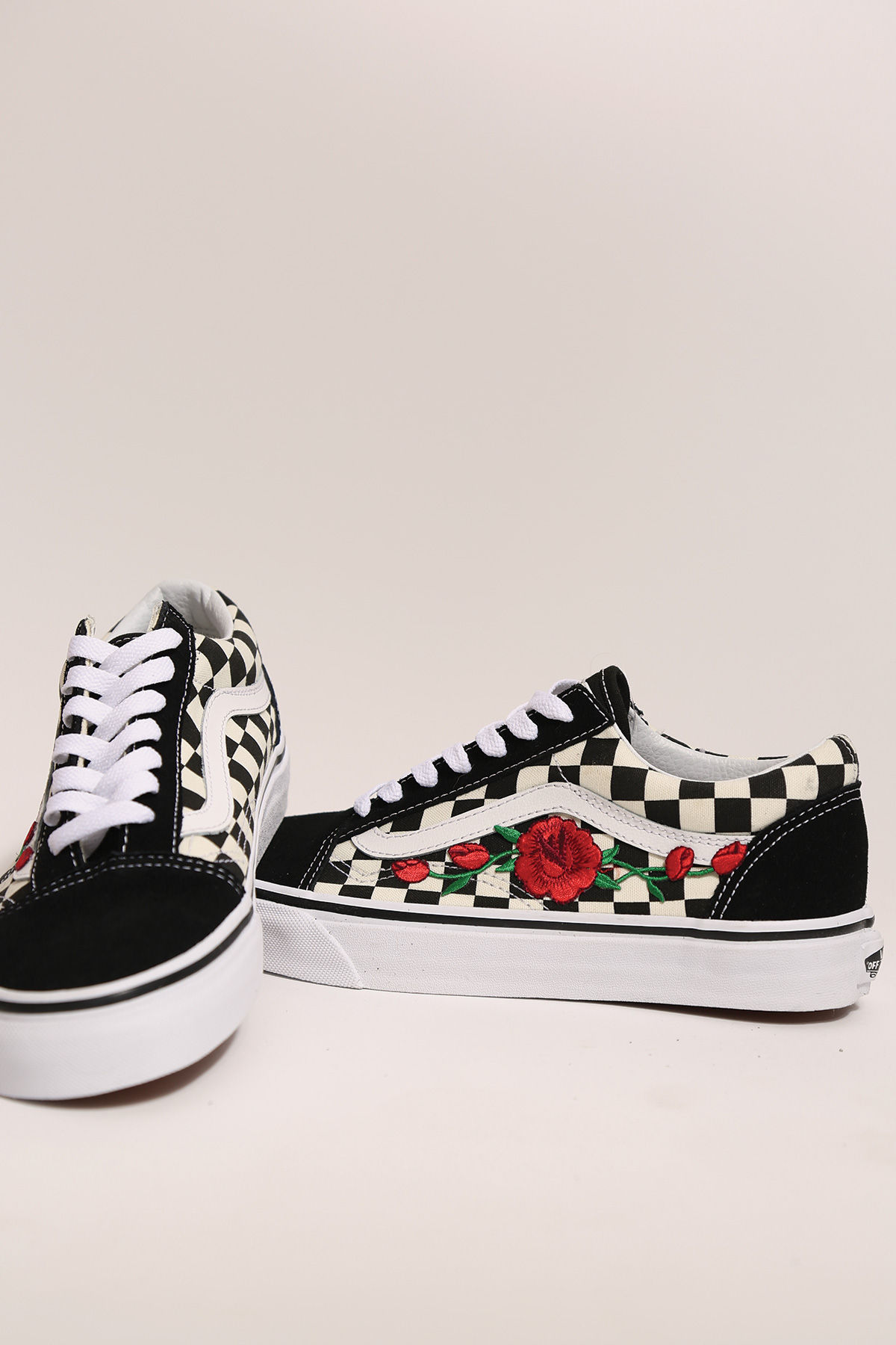 22053e63c54f custom rose vans checkered old skool low top — iamkoko.la