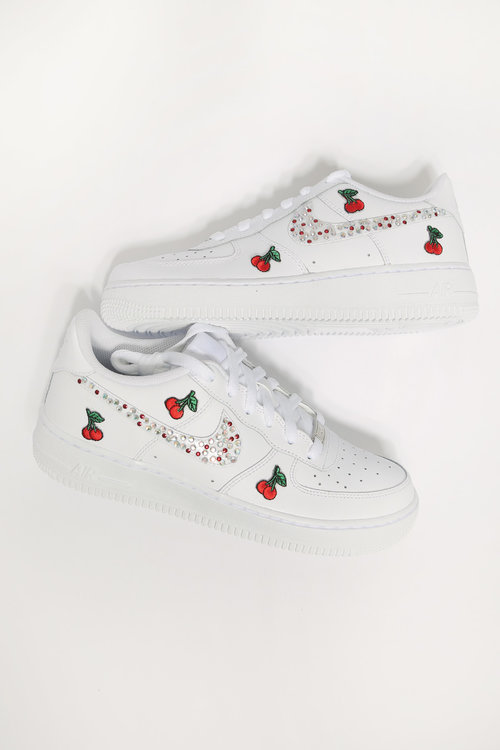 custom cherry diamonds white nike air force 1. af1 cherry1.jpg 7a3f4c297