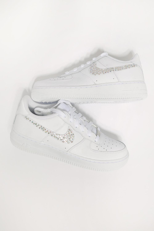 custom diamond white nike air force 1 — iamkoko.la