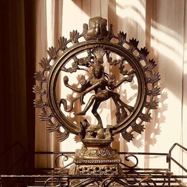 """Shiva's dance is the universe. In his hair is a skull and a new moon, death and rebirth at the same moment, the moment of becoming. In one hand he has a little drum that goes tick-tick-tick. That is the drum of time, the tick of time which shuts out the knowledge of eternity. We are enclosed in time. But in Shiva's opposite hand there is a flame which burns away the veil of time and opens our minds to eternity. Shiva is a very ancient deity, perhaps the most ancient worshiped in the world today. There are images from 2000 or 2500 B.C., little stamp seals showing figures that clearly suggest Shiva. In some of his manifestations he is a really horrendous god, representing the terrific aspects of the nature of being. He is the archetypal yogi, canceling the illusion of life, but he is also the creator of life, its generator, as well as illuminator."" CAMPBELL, Joseph. #shiva #myth #india #hinduism #hindu #lifeanddeath #creationanddestruction — view on Instagram  https://ift.tt/2P7zdA3"
