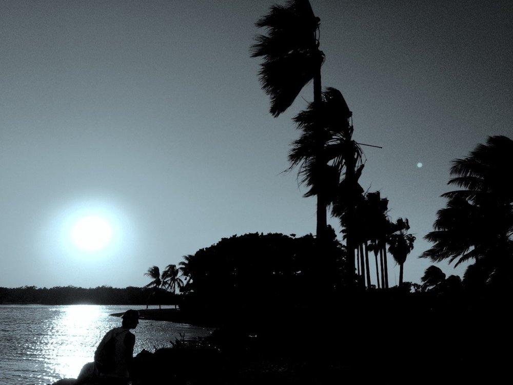 Pôr-do-sol em Coral Gables.