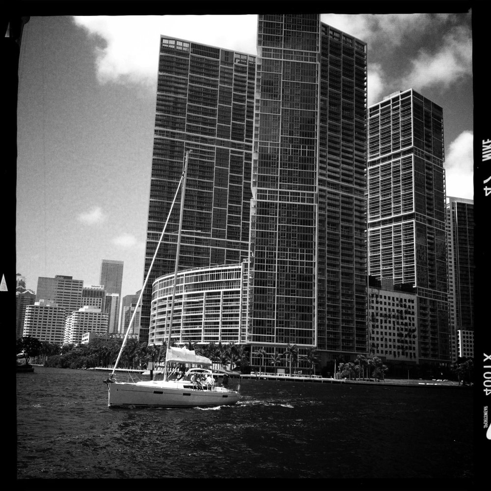 Summertime downtown miami #miami #downtown #summer #b&w