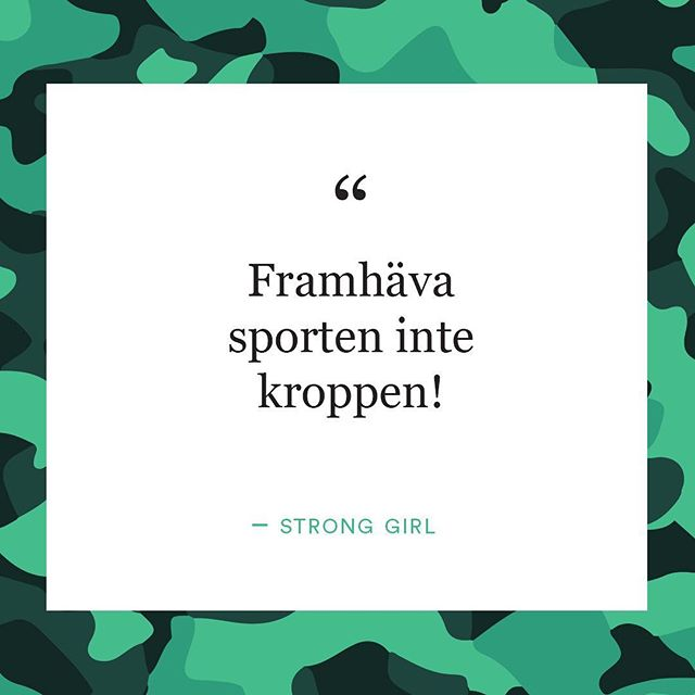 Wise words from one of our earlier Strong Girls groups! The girls had been researching how women are portrayed in sports media, they werent happy with what they discovered... #stronggirlsumeå #stronggirlsproject #girlsempowerment #jamstalldhet #sportsmedia #arvsfonden