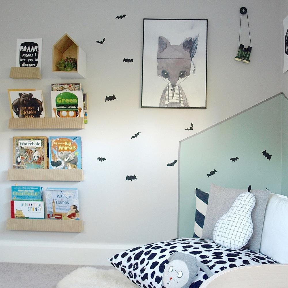 Bookcase and reading corner photo