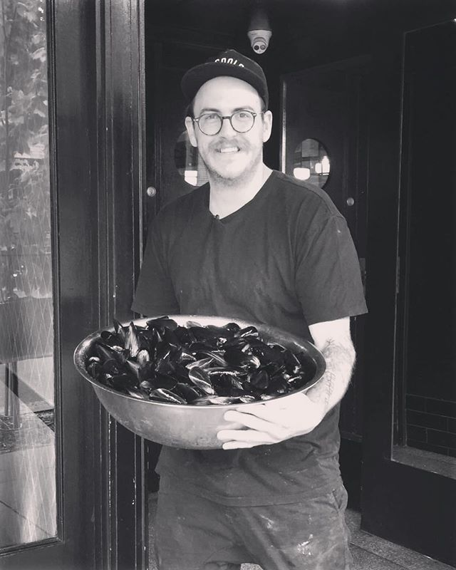 We've still got some delicious mussels left, get down here and try some! Check out how excited @keeeggaann is to whip them up for you. #cozze #bringabanger #byosundays #fuckthatsdelicious