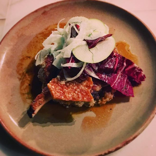 Special of the week. Juicy Pork Cutlet with white beans and cauliflower. Fennel, Apple and Radicchio. #fuckthatsgood