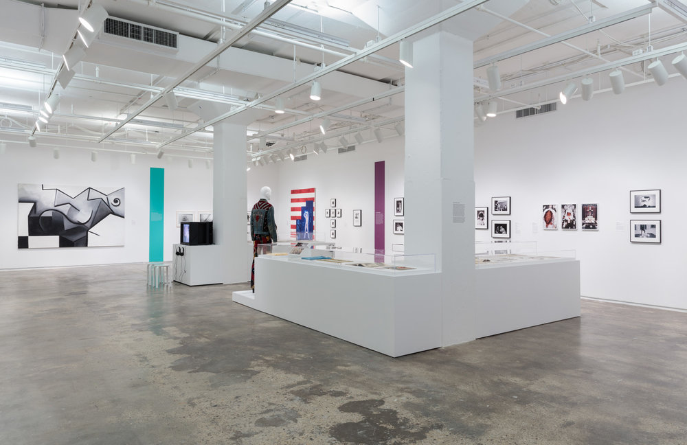 Installation view of  Axis Mundo: Queer Networks in Chicano L.A.  at 205 Hudson Gallery. Photo by Stan Narten.