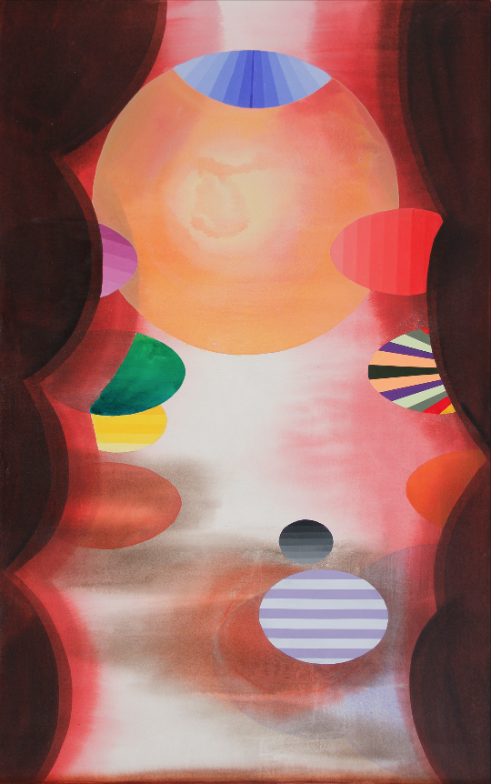 Stephen Mueller  Kabir,  2011 Acrylic on canvas 57 ½ × 36 inches Courtesy of Catherine Mosley