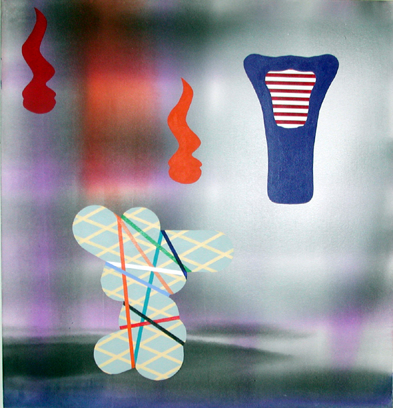 Stephen Mueller  Myth , 2003 Acrylic on canvas 50 × 48 inches Courtesy of Lennon, Weinberg, Inc., New York and Texas Gallery, Houston