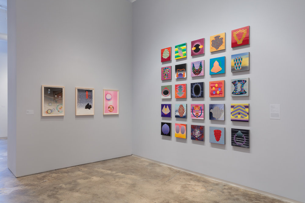 Installation view:  Stephen Mueller: Orchidaceous , Hunter College Art Galleries, 2018. Photo by Stan Narten.