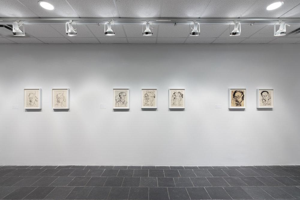 Installation view:  Hans Hofmann: The California Exhibitions, 1931 , Hunter College Art Galleries, 2019. Photo by Stan Narten.