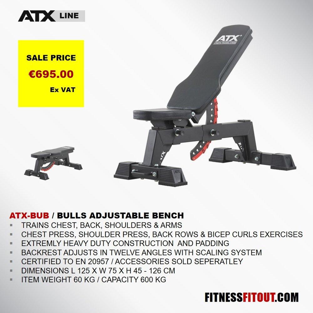 ATX  BULLS ADJUSTABLE BENCH
