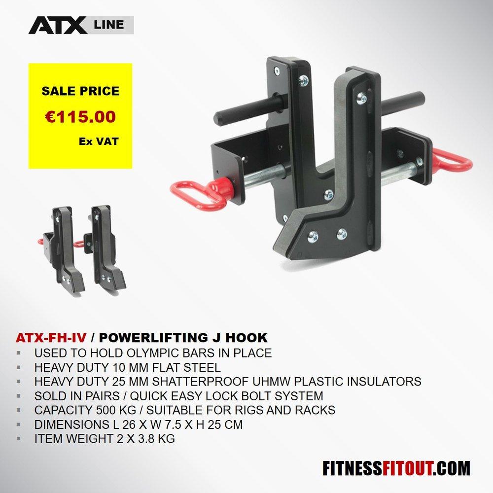 ATX  POWERLIFTING J HOOKS