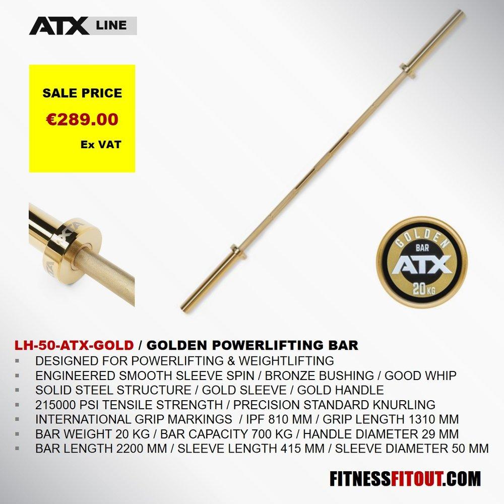 ATX  GOLDEN POWERLIFTING BAR