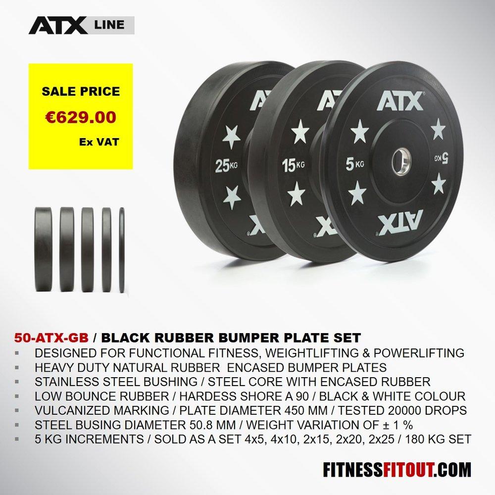 ATX  BLACK RUBBER BUMPER PLATE
