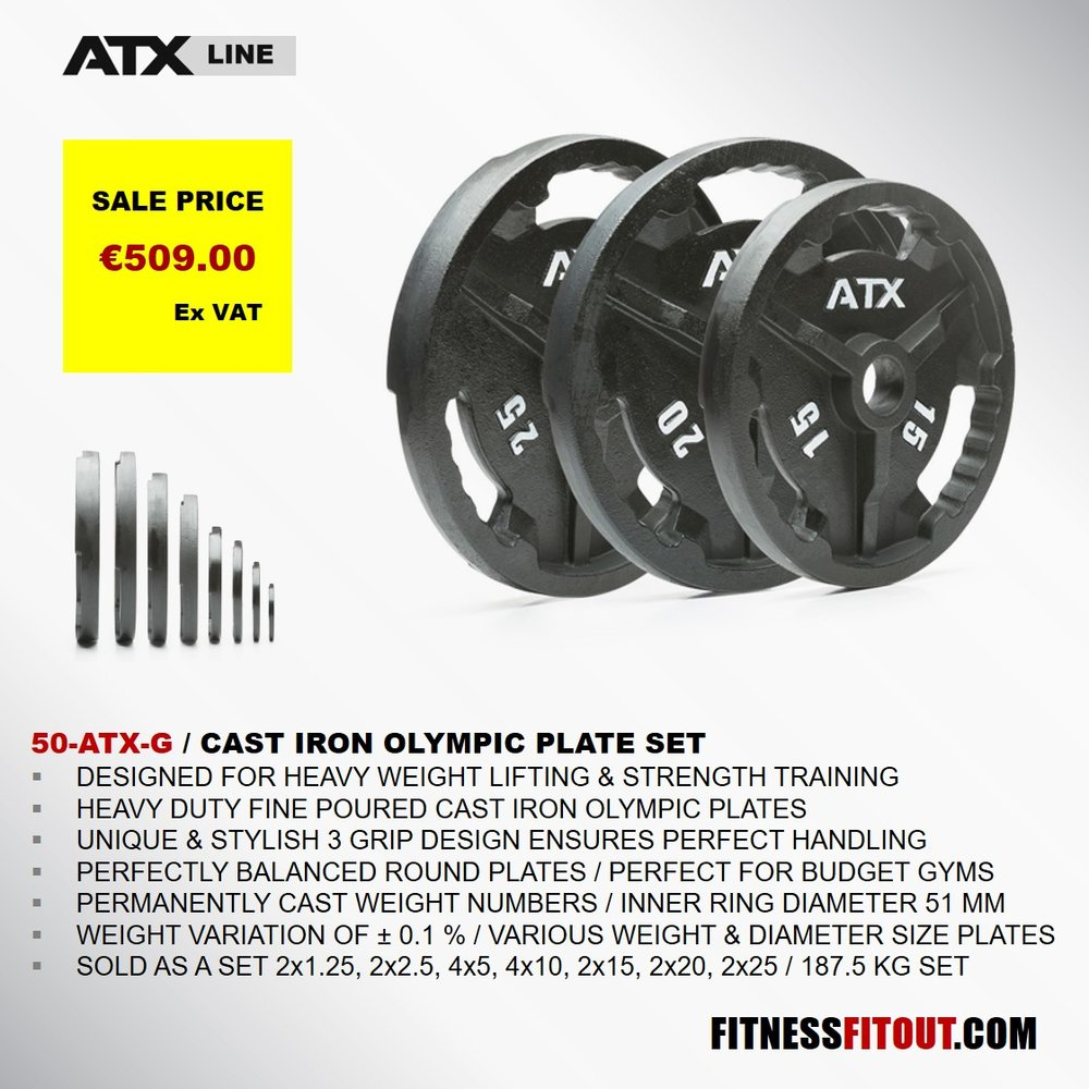 ATX  CAST IRON OLYMPIC PLATE