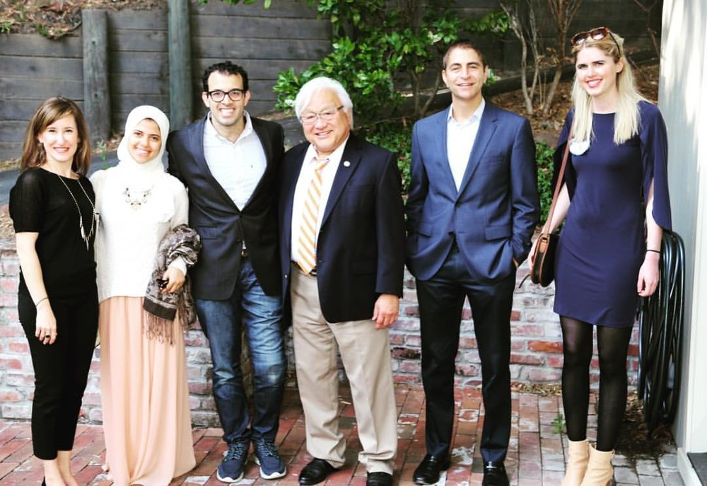 Pictured (from L to R): Christine Murad-Haroun (COO), Mehran Nabulsi, Jawad Nabulsi (partner), Congressman Mike Honda, Chris Haroun (partner), Nicole Nabulsi.