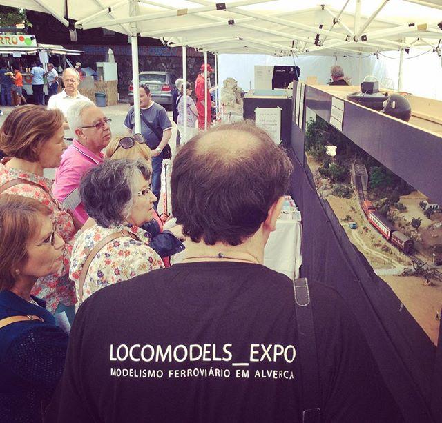 Na CulturAlverca no passado Maio #alverca #locomodelsexpo #modelismoferroviario #modeltrains #portugal